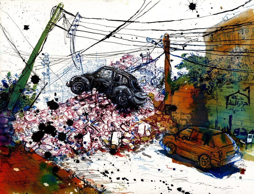 55ad0da99e9755183d974a20_molly-crabapple-syria-car_barricade002